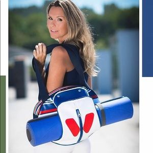 IDAWEN vegan eve red white blue yoga bag! NEW